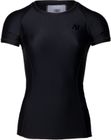 Carlin Compression Korte Mouwen Top - Zwart/Zwart