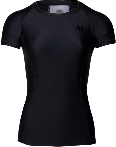 Carlin Compression Korte Mouwen Top - Zwart