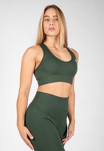 Neiro Seamless Sports Bra - Army Green