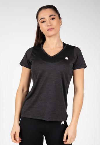 Elmira V-Hals T-Shirt - Zwart
