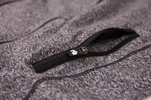 Shawnee Zipped Hoodie - Mixed Gray - Detail