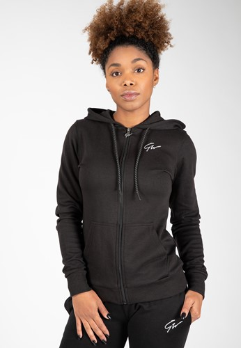 Pixley Zipped Hoodie - Black