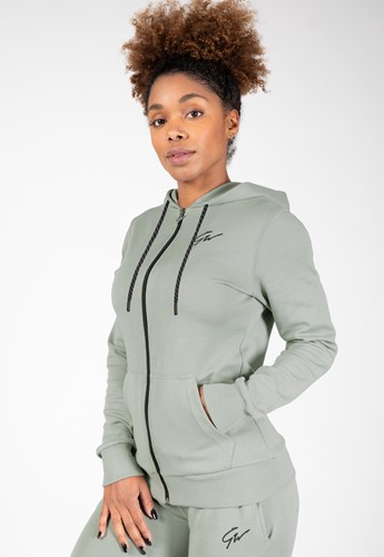 Pixley Zipped Hoodie - Light Green