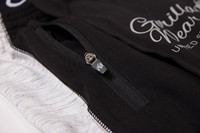Dolores Dungarees - Black/Gray - Detail