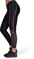 Carlin Compression Tights - Zwart/Roze-3