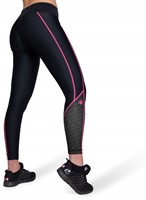 Carlin Compression Tights - Zwart/Roze-2
