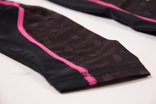 Carlin Compression Tight - Black/Pink - Detail