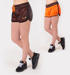 Madison Reversible Shorts - Black/Neon Orange