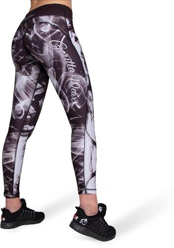 Phoenix tights - Black/White-2