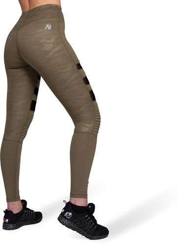 Savannah Biker Tights - Army Green Camo-2