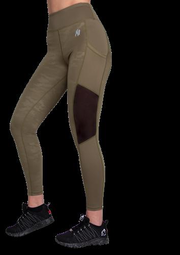 Savannah Mesh Tights - Legergroen  Camo - XS