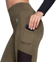 Savannah Mesh Tights - Army Green Camo - Detail