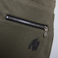 Celina Drop Crotch Joggers - Army Green - Detail