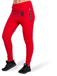 Celina Drop Crotch Joggers - Red