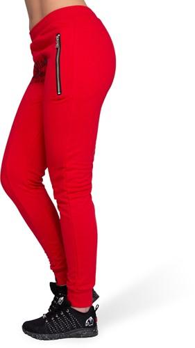 Celina Drop Crotch Joggingsbroek - Rood-3