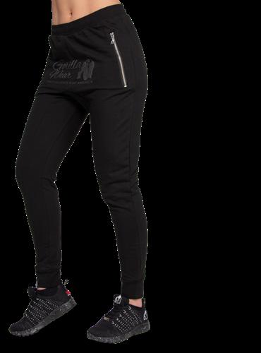 Celina Drop Crotch Joggers - Black