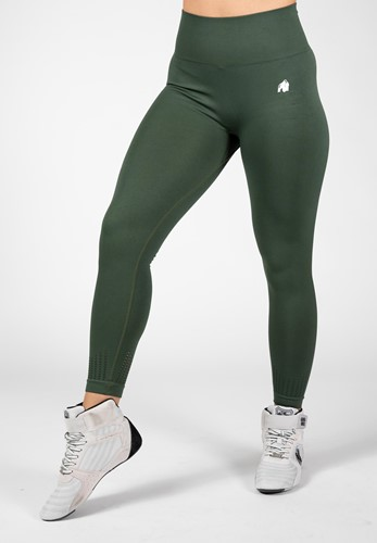 Neiro Seamless Leggings - Army Green