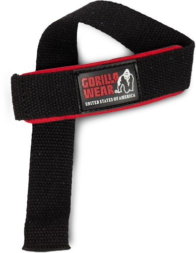 Padded Lifting Straps - Zwart