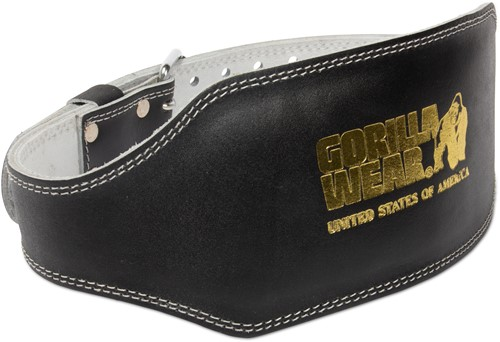 Full Leather Padded Belt Black