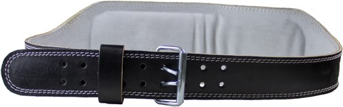 Full Leather Padded Belt Black-3