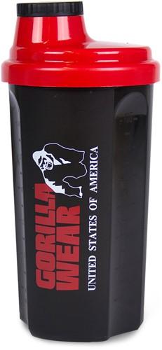 Gorilla Wear Shaker 700ML - Zwart/Rood