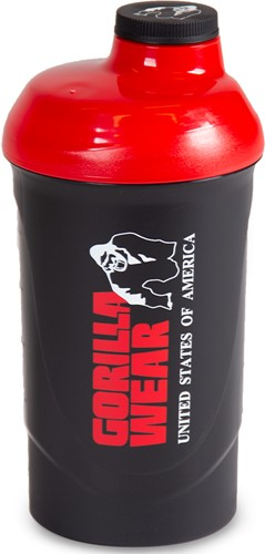Gorilla Wear Wave Shaker 600ML - Zwart/Rood