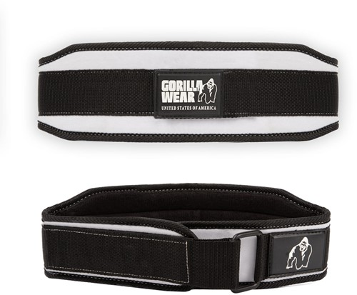 Gorilla Wear 4 Inch Dames Lifting Belt - Zwart/Wit