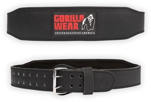 Gorilla Wear 4 Inch Padded Leren Lifting Belt - Zwart/Red