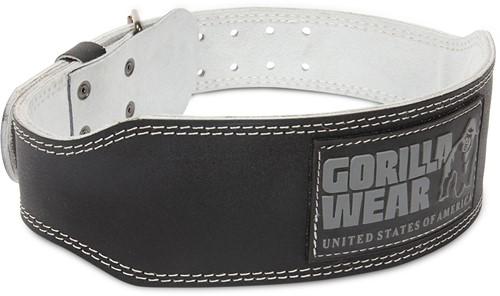 Gorilla Wear 4 Inch Padded Leather Lifting Belt - Black/Gray