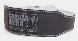 Gorilla Wear 4 INCH Padded Leather Belt - Black