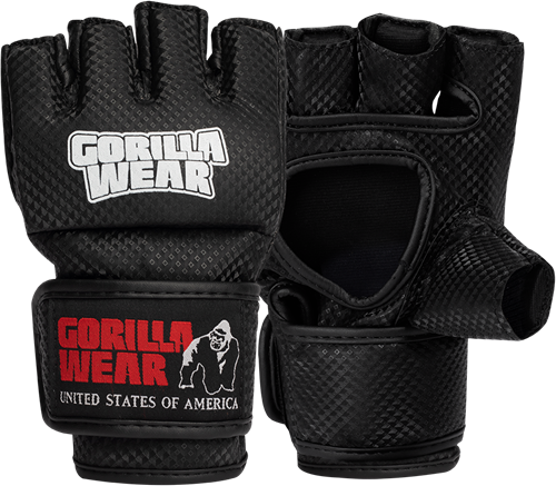 Manton MMA Handschoenen (Met Duim) - Zwart/Wit