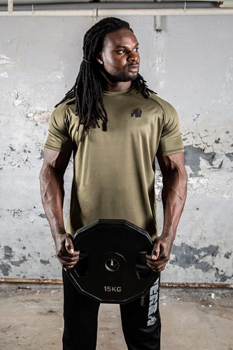 Performance T-shirt Army Green Sfeer