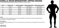 Bridgeport Zipped Hoodie - Maattabel