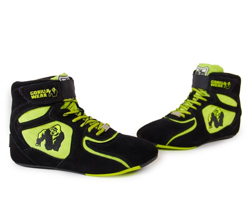 Chicago High Tops - Zwart/Neon Lime Limited-2