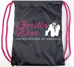 GORILLA WEAR DRAWSTRING BAG BLACK/PINK