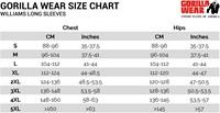 williams longsleeves sizecharts maattabel