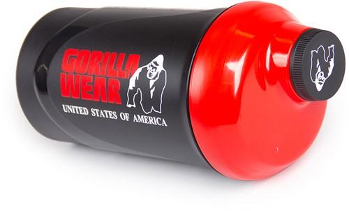 Gorilla Wear Wave Shaker 600ML - Zwart/Rood