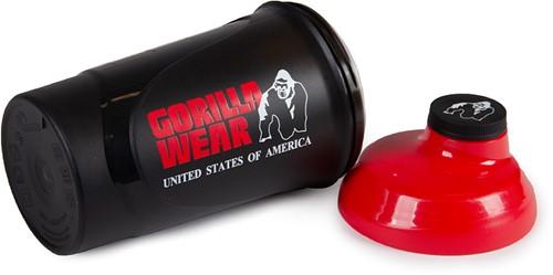 Gorilla Wear Wave Shaker 600ML - Zwart/Rood-2